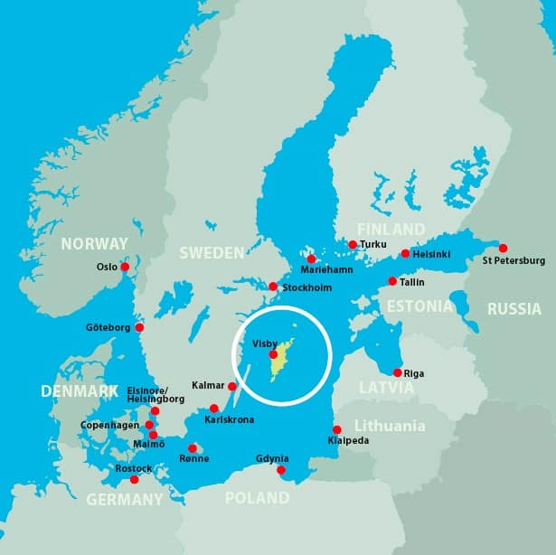 Map Baltic Sea